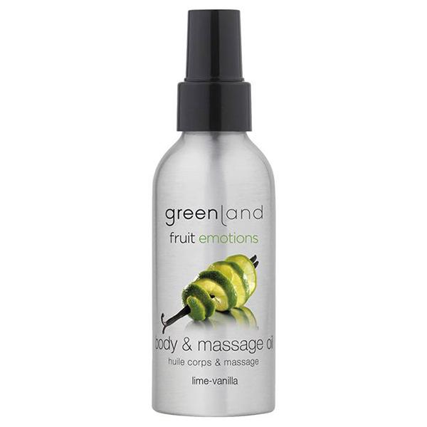 Масло для Массажа «Лайм-Ваниль» Greenland Fruit Emotions massage oil lime-vanilla 120 мл