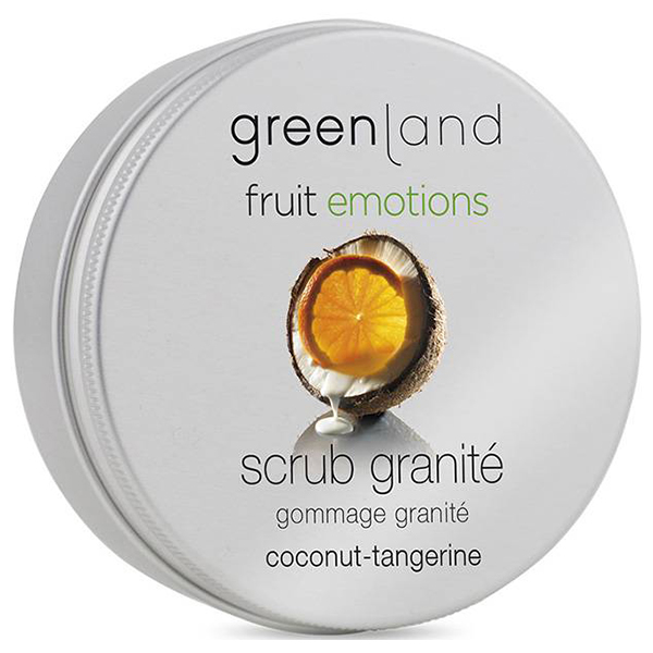 Скраб-Щербет для Тела «Кокос-Мандарин» Greenland Fruit Emotions scrub granité coconut-tangerine 200 мл