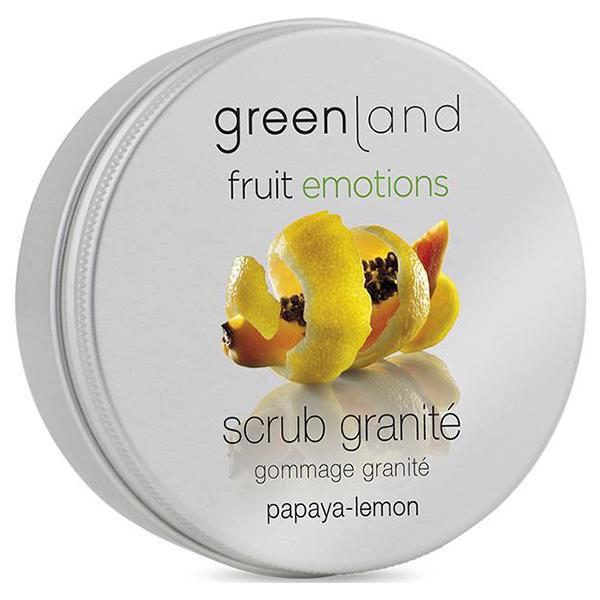 Скраб-Щербет для Тела «Папайя-Лимон» Greenland Fruit Emotions scrub granité papaya-lemon 200 мл