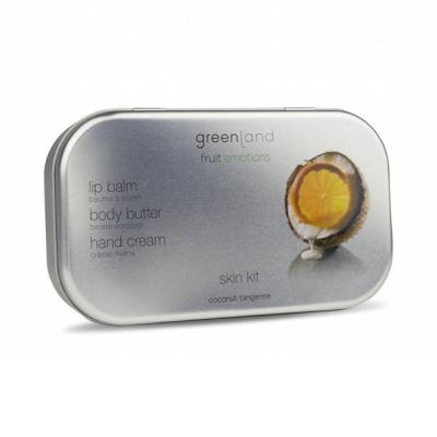 Набор «Кокос-Мандарин» Greenland Skin Kit set coconut-tangerine (Масло для Тела 100 мл + Крем для Рук 50 мл + Бальзам для Губ 3,9 г)