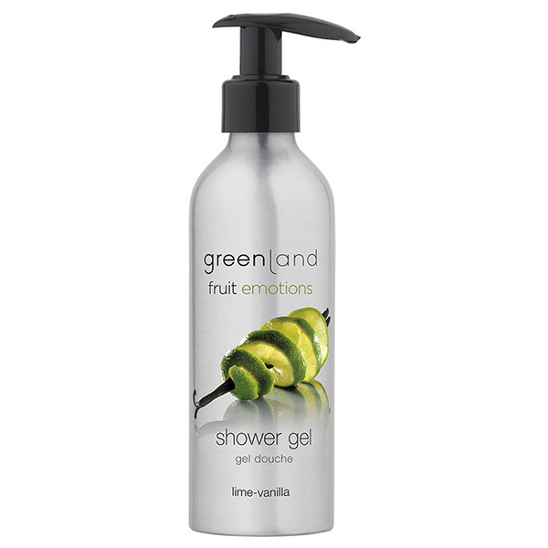 Гель для Душа с Помпой «Лайм-Ваниль» Greenland Fruit Emotions shower gel lime-vanilla 200 мл