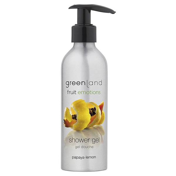 Гель для Душа с Помпой «Папайя-Лимон» Greenland Fruit Emotions shower gel papaya-lemon 200 мл