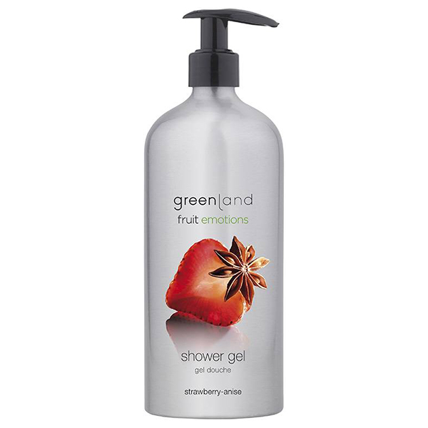 Гель для Душа с Помпой «Клубника-Анис» Greenland Fruit Emotions shower gel strawberry-anise 600 мл