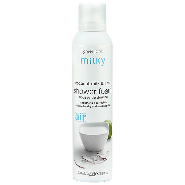 Мусс для Душа «Кокосовое Молочко-Лайм» Greenland Milky shower mousse coconut milk - lime 200 мл