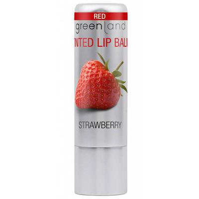 Бальзам для Губ «Красная Клубника» Greenland Balm & butter Glossy lip balm red strawberry 3,9 г