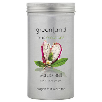 Соль-Скраб «Питайя-Белый Чай» Greenland Fruit Emotions scrub salt dragon fruit-white tea 400 г