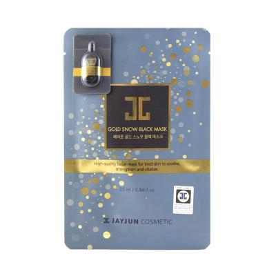 Тканевая Маска для Лица с Частичками Золота Jayjun Gold Snow Black Mask