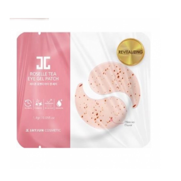 Патчи под Глаза с Чаем Каркаде Jayjun Roselle Tea Eye Gel Patch 10 шт
