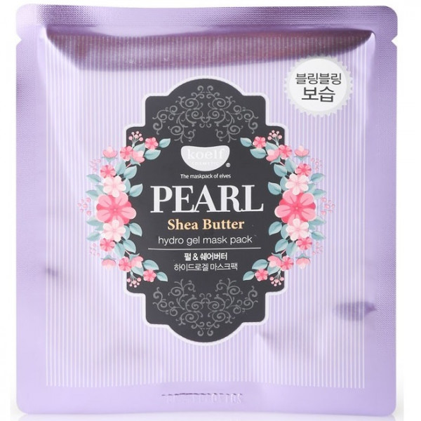 Гидрогелевая Маска для Лица с Жемчугом KOELF Pearl & Shea Butter Hydro Gel Mask 1x30 г