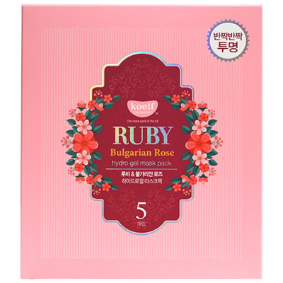 Гидрогелевая Маска для Лица с Рубином KOELF Ruby & Bulgarian Rose Eye Patch 5 шт х 30 г