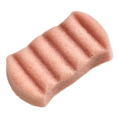 Воздушный Спонж Конняку для Тела с Розовой Глиной Konjac 6 Wave Bath Sponge French Pink Clay