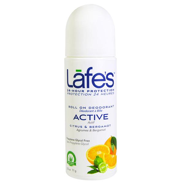 Натуральный Органический Роликовый Дезодорант на Основе Конопляного Масла LAFE's Active «Цитрус - Бергамот» 73 мл