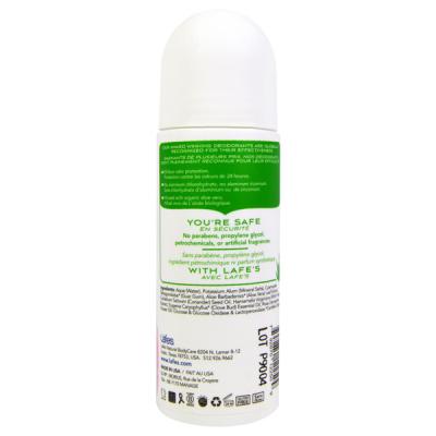 Натуральный Органический Роликовый Дезодорант на Основе Конопляного Масла LAFE's Bliss Пудра «Ирис - Роза» 73 мл