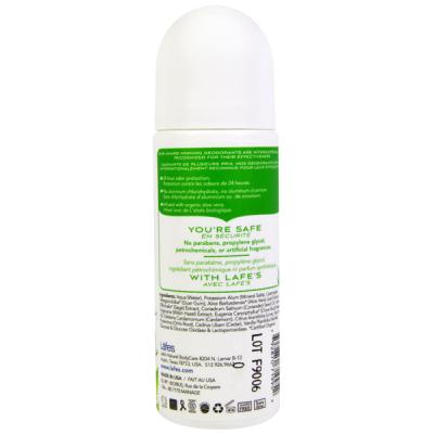 Натуральный Органический Роликовый Дезодорант на Основе Конопляного Масла LAFE's Fresh  «Кедр - Алоэ» 73 мл