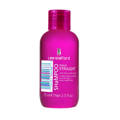 Мини-Шампунь для Выравнивания Волос с Термозащитой Lee Stafford Mini-Poker Straight Shampoo 75 мл