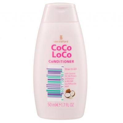 Увлажняющий Мини-Кондиционер для Волос с Кокосовым Маслом Lee Stafford Coco Loco Mini-Conditioner Straw to Silk 50 мл
