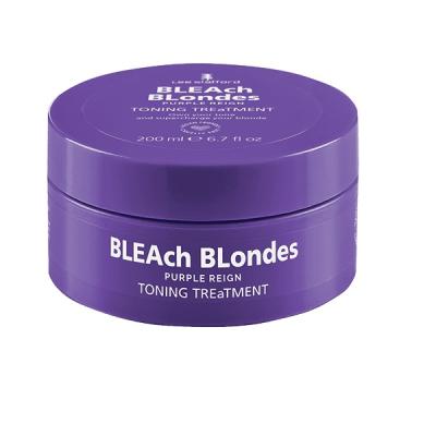 Тонирующая Маска для Нейтрализации Жёлтых Оттенков Lee Stafford Bleach Blondes Purple Reign Toning Treatment Mask 200 мл