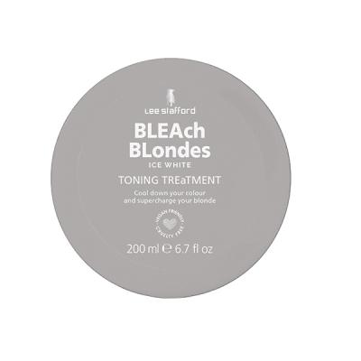 Тонирующая Маска для Пепельных и Седых Оттенков Lee Stafford Bleach Blondes Ice White Toning Treatment Mask 200 мл