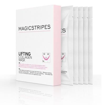 Подтягивающая Коллагеновая Маска на Область Щёк и Подбородка Magicstripes Lifting Collagen Mask Box 5 шт