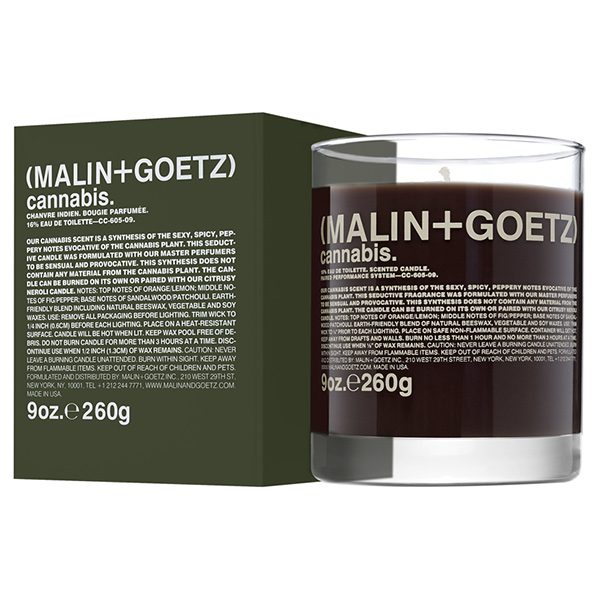 Свеча Ароматизированная Cannabis MALIN+GOETZ cannabis candle 260 г