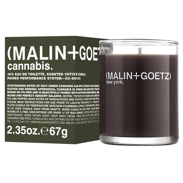 Свеча Ароматизированная Cannabis MALIN+GOETZ cannabis votive 67 г