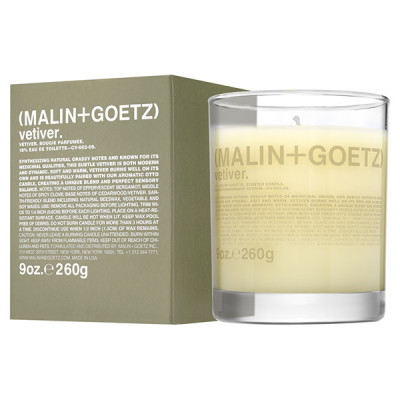 Свеча Ароматизированная Vetiver MALIN+GOETZ vetiver candle 260 г