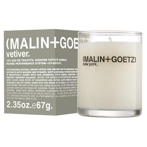 Свеча Ароматизированная Vetiver MALIN+GOETZ vetiver votive 67 г