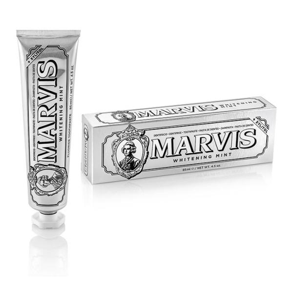 Отбеливающая Зубная Паста с Ксилитолом Marvis «Мята» Whitening Mint + Xylitol 85 мл