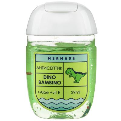 """Антисептик для Рук """"Арбуз"""" Динозавр Mermade Dino Bambino 29 мл"""