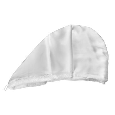 Двухстороннее Полотенце-Тюрбан для Деликатной Сушки Волос (Белое) MON MOU Hair Turban White