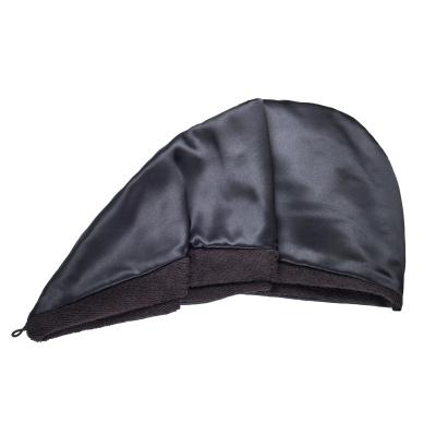 Двухстороннее Полотенце-Тюрбан для Деликатной Сушки Волос (Черное) MON MOU Hair Turban Black
