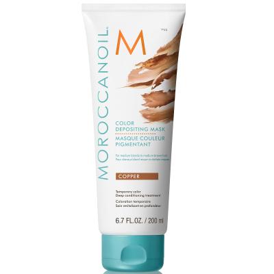 Маска для Волос с Эффектом Жжёного Абрикоса Moroccanoil Color Depositing Copper Mask 200 мл