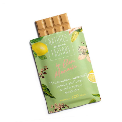 Белый Шоколад с Гречишным Чаем, Имбирь и Лимон Nature's Own Factory 20 г