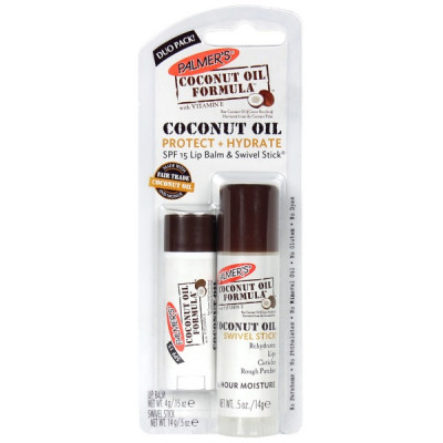 "Набор ""Масло Кокоса"" Бальзам для Губ + Увлажняющий Стик для Губ Palmers Coconut Oil Protect & Hydrate Duo Pack"