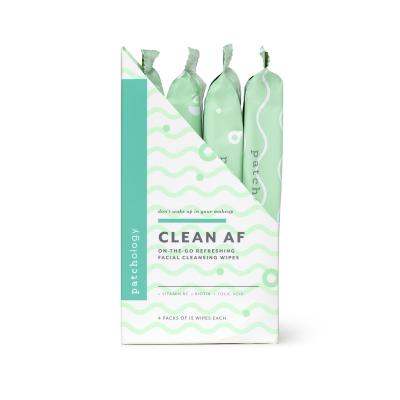 Очищающие Салфетки для Демакияжа Patchology Clean AF Facial Cleansing Wipes 4 уп