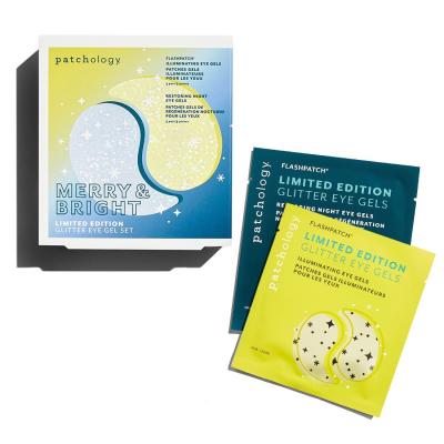 Набор Патчей для Глаз с Шиммером Лимитированная Коллекция Patchology Merry & Bright: Limited Edition Glitter Eye Gel Kit