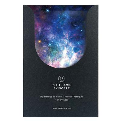 Увлажняющая Угольная Маска для Лица Petite Amie Hydrating Bamboo Charcoal Masque Foggy Star