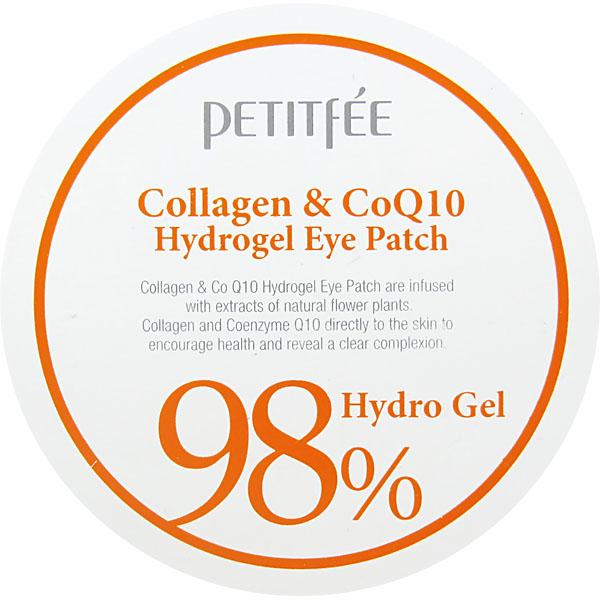 Гидрогелевые Патчи для Глаз с Коллагеном и Коэнзимом PETITFEE Collagen & Co Q10 Hydrogel Eye Patch 60шт