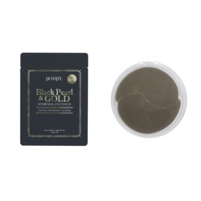 Гидрогелевые Патчи для Глаз с Золотом и Чёрным Жемчугом PETITFEE Black Pearl & Gold Hydrogel Eye Patch (1 пара)