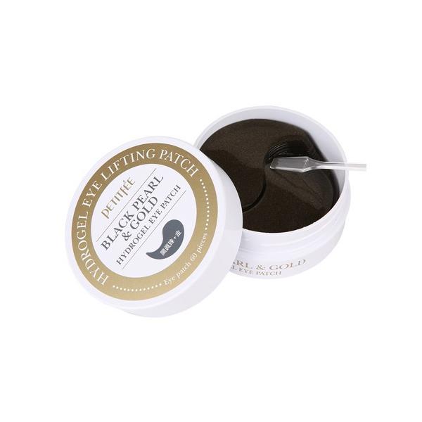 Гидрогелевые Патчи для Глаз с Золотом и Черным Жемчугом PETITFEE Black Pearl & Gold Hydrogel Eye Patch 60 шт