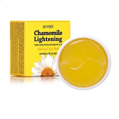 Гидрогелевые Осветляющие Патчи для Глаз с Экстрактом Ромашки PETITFEE Chamomile Lightening Hydrogel Eye Mask 60 шт