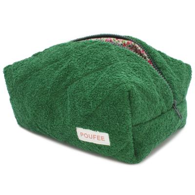 Косметичка Зелёная Махра Большая POUFEE Green Terry BIG