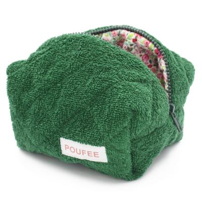 Косметичка Зелёная Махра Маленькая POUFEE Green Terry SMALL