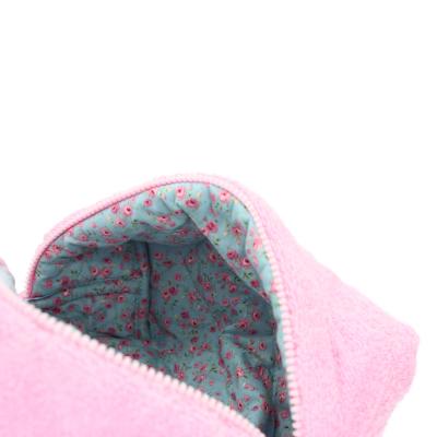 Косметичка Розовая Махра Большая POUFEE Pink Terry BIG