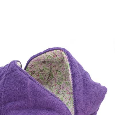 Косметичка Фиолетовая Махра Большая POUFEE Violet Terry BIG
