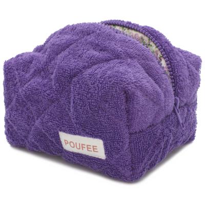 Косметичка Фиолетовая Махра Маленькая POUFEE Violet Terry SMALL