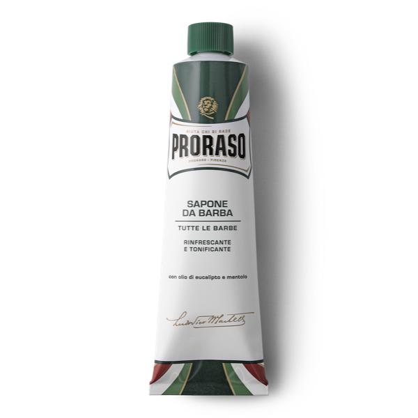 Тонизирующий Крем для Бритья с Экстрактом Эвкалипта и Ментола Proraso Green Line Refreshing Shaving Cream 150 мл