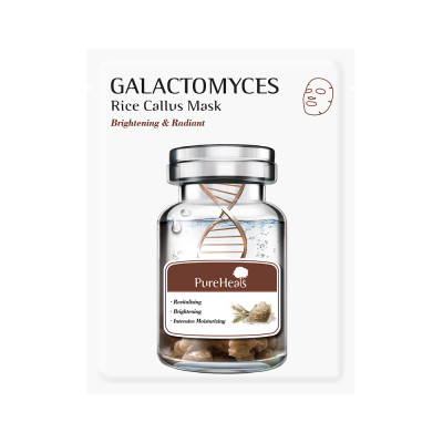 Тканевая Маска с Галактомисом для Сияния Кожи Pureheal's Galactomyces Rice Callus Mask 25 г