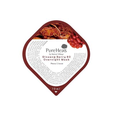 Энергичная Ночная Маска в Капсулах с Экстрактом Ягод Женьшеня Pureheal's Ginseng Berry 80 Overnight Mask (Capsule) 10 мл