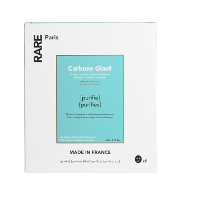Очищающая Тканевая Маска Rare Paris Carbone Glacé Purifying Face Mask Box 5 шт